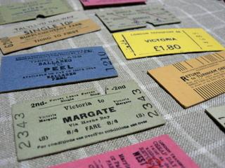 ヴィンテージ鉄道切符表